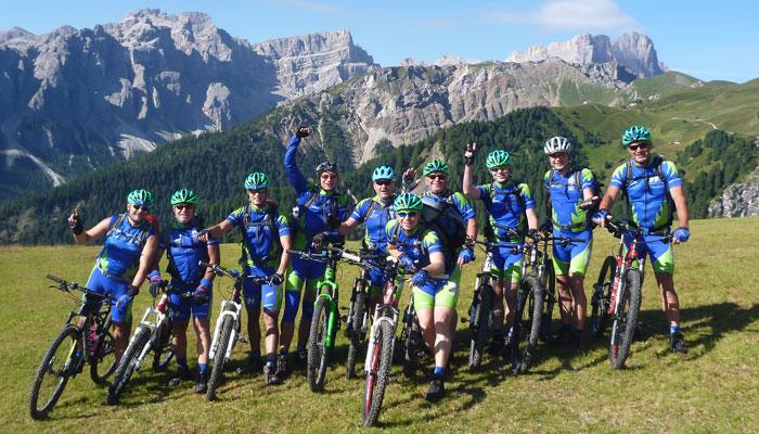 Transalp Mountainbiken Roadrunners Radgruppe Spraitbach