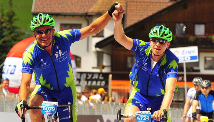 Dolomiten Radmarathon Rennrad Mountainbiken Roadrunners Radgruppe Spraitbach